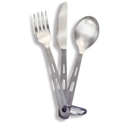 Optimus Titanium 3-Piece Cutlery Set
