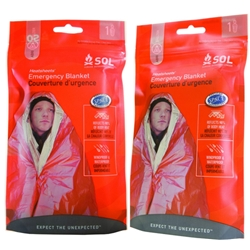Survive Outdoors Longer Emergency One Person Blanket (2 Pack)