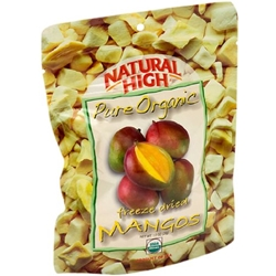 Natural High Pure Organic Freeze Dried Mangos