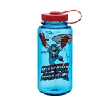 Blue Bottle With Captain America And Red Cap