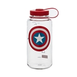 Clear Bottle With Capt. America Shield And Red Cap