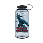 Gray Bottle With Black Panther And Black Cap