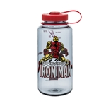 Gray Bottle With Ironman And Red Cap