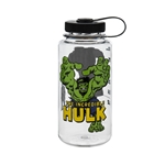 Clear Bottle With Hulk And Black Cap