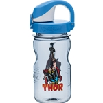 Gray Bottle With Thor With Blue Lid