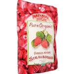 Natural High Pure Organic Freeze Dried Strawberries